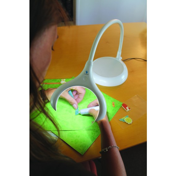 MAGnificent LED Table & Floor Magnifier Lamp