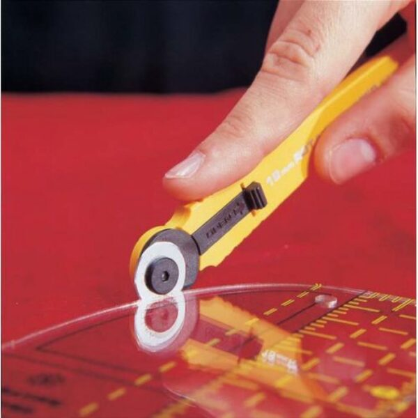 Straight Handle Olfa Rotary Cutter 18mm